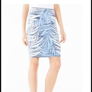 Bcbg Maxazria gorgeous blue jacquard skirt